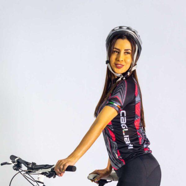 jersey de ciclismo para mujer