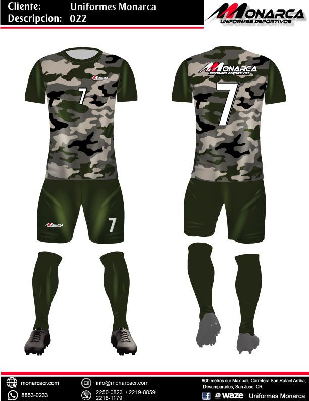 confección de uniformes de futbol modernos sublimados